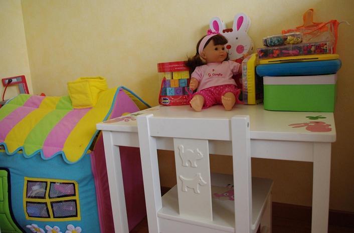 nous avons mis sur les jouets et les peluches pour amener de la couleur cette chambre mais comme mon mari craignait tout de mme que cela donne une dco - Chambre Petite Fille 3 Ans