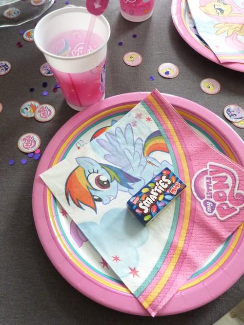 Anniversaire My Little Pony - deco table1